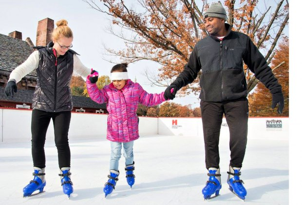 Outdoor skating kicks off at Winterfest Hartford at Bushnell Park. Photo by Andy Hart