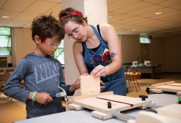 Kids get hands on lessons in science, tech, engineering and more at these summer camps. Photo from The Handwork Studio