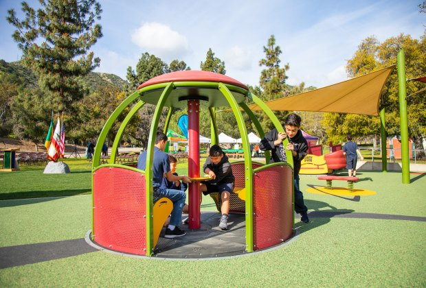 Now open in LA are all playgrounds and parks, like Shane's Inspiration