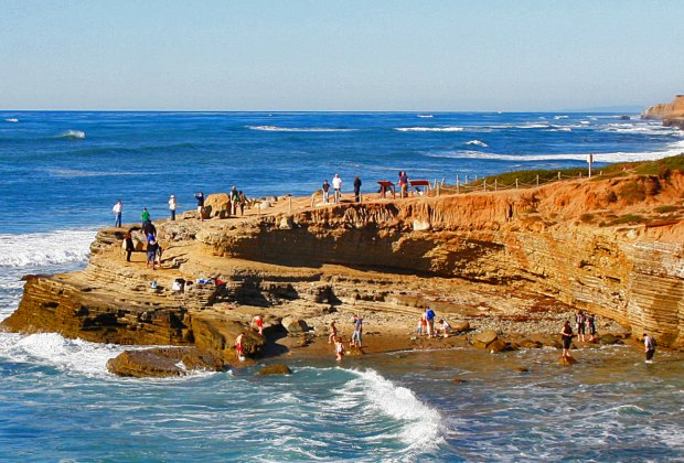 Explore the Point Loma tide pools at Cabrillo National Park. Photo by Neil Siilverthorn/CC BY 2.0
