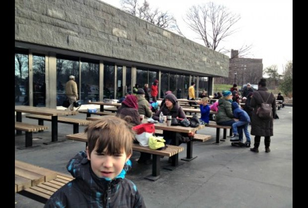 Grab a bite at the Bluestone Cafe, which has indoor and rink-side seating