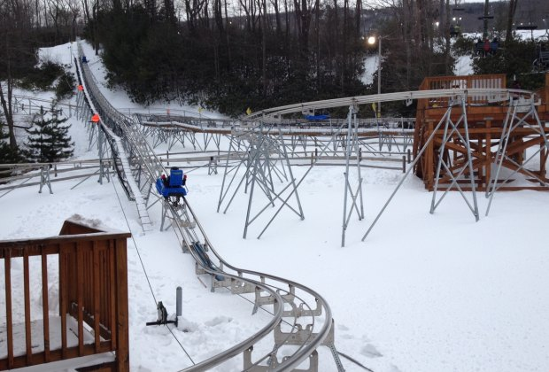 Starting up the Camelback Mountain Coaster