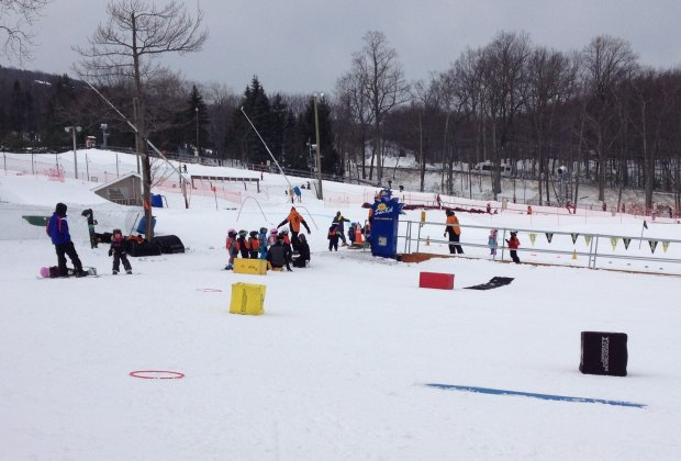 Children's ski lessons at Camelback