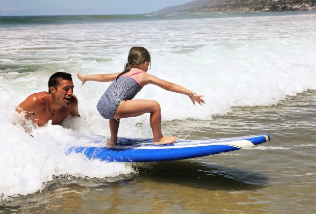 surf lessons camp summertime
