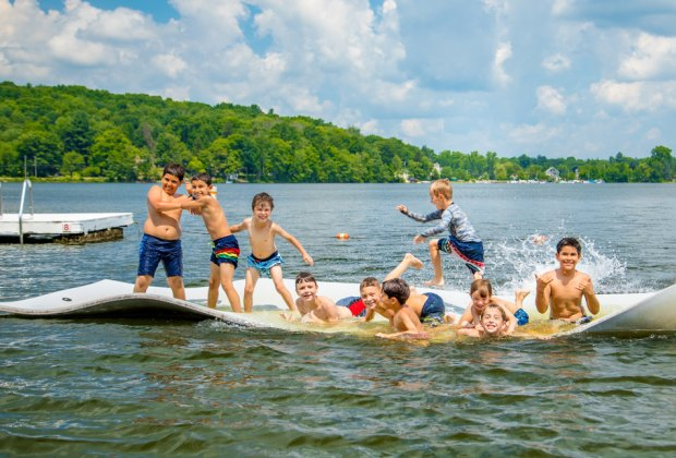 Waterfront activities are a favorite at Awosting. Photo courtesy of Camp Awosting