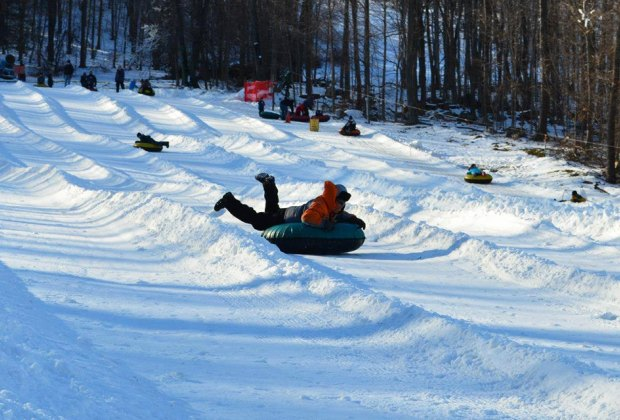 Catch a thrill on the snow tubing hills at Campgaw. Photo courtesy of Campgaw