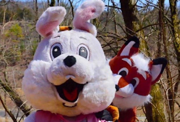 Catskills Mountain Railroad Easter Bunny and Fox