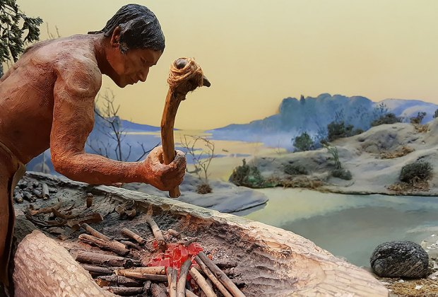 Native American diorama at Garvies Point Museum