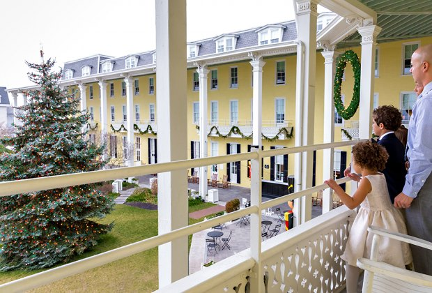 Take a Christmas trip to Cape May to see beautifully decorated Congress Hall. Photo by Laura Cocivera