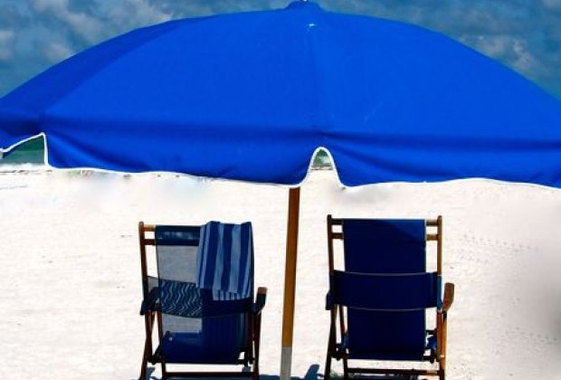 Rent chairs and umbrellas on the beach