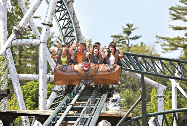 Canobie Lake Park has more than 85 lakeside rides and attractions. Photo courtesy of the park