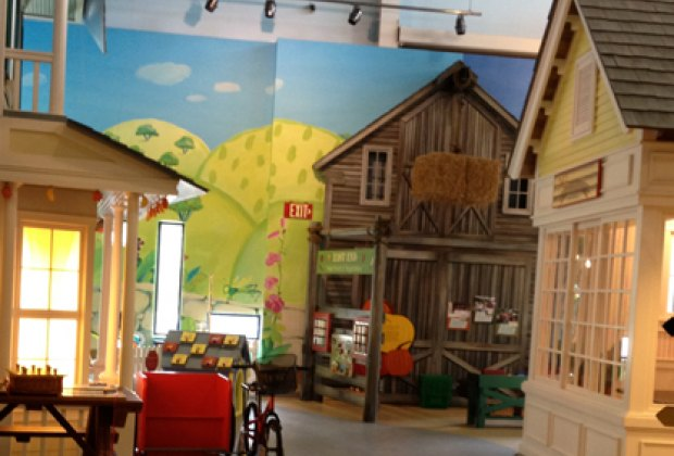 The museum is themed as a small town.