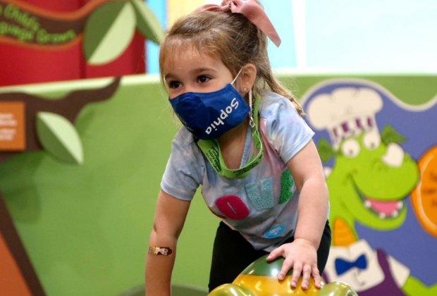 Children's museum of Manhattan girl playing in play space nyc birthdays