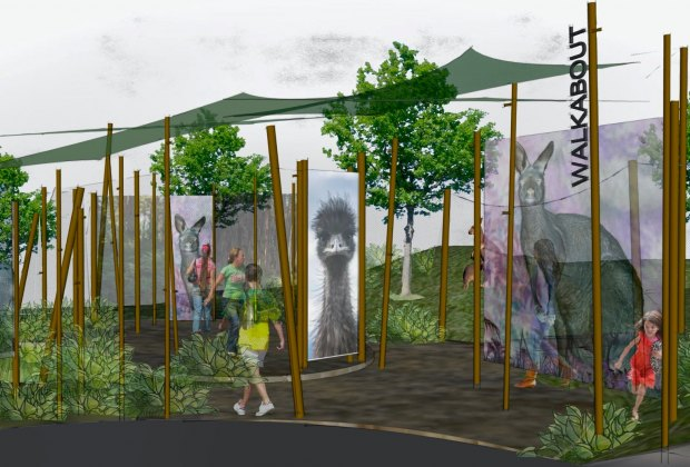 Artist rendering of the Australian Outback exhibit coming soon to the Santa Barbara Zoo
