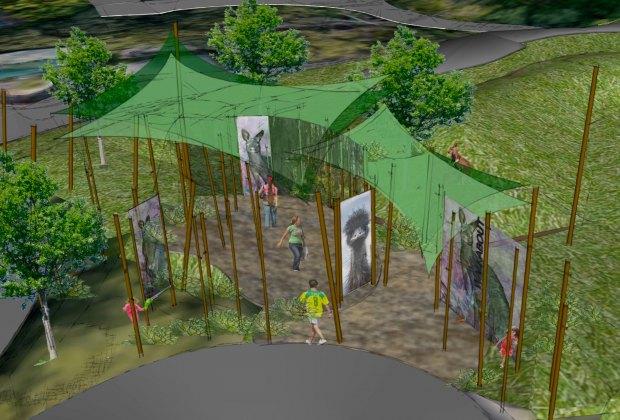 An artist rendering of the new Australian Walkabout at the Santa Barbara Zoo.
