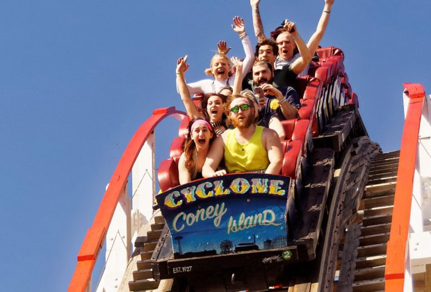 The Cyclone roller coaster is a Coney Island legend