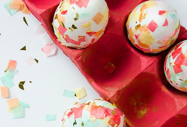 How to Dye Easter Eggs: No dye needed at all to make confetti eggs!