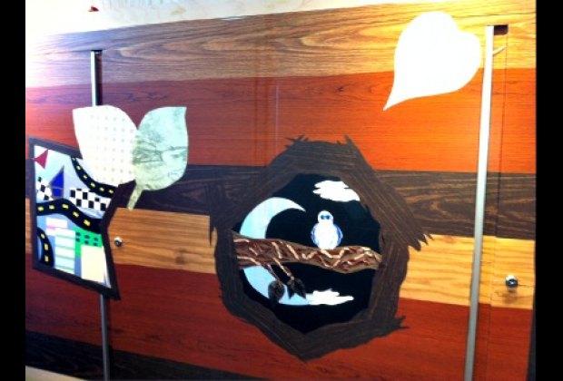 NYC teens from Cooper-Hewitt's DesignPrep program helped design the wall mosaics