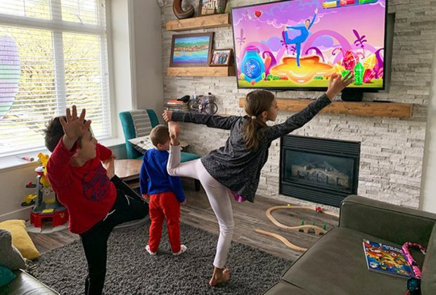 Free videos make it easy for kids of any age to do yoga together.
