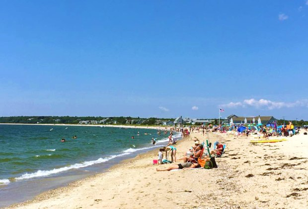 Craigville Beach is a nice big beach on Nantucket Sound. Photo courtesy of the Craigville Beach Inn