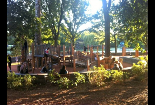 Brand-new East 110th Street Playground in northern Central Park