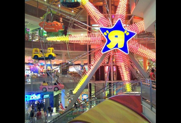 The Times Square Toys R Us boasts a massive indoor Ferris wheel...