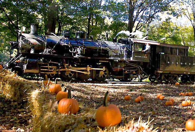 Take the Great Pumpkin Train to the patch and enjoy the beautiful autumn scenery. Photo courtesy of Delaware River Railroad Excursions