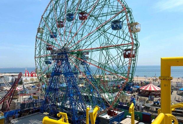 Deno's Wonder Wheel Amuseument Park in Coney Island
