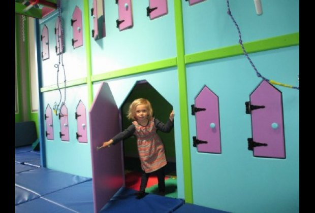 There are also stations perfect for imaginative play like this two-story castle
