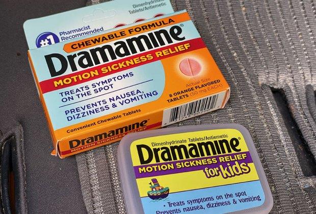 product shot of dramamine