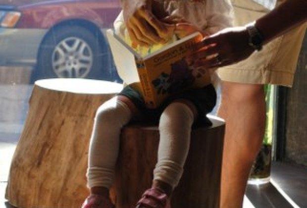My daughter enjoying her new Mandarin board book
