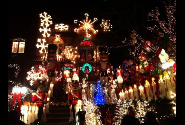 Lucy Spata's house on 84th Street is the one that reportedly started<br/> the Dyker Lights tradition