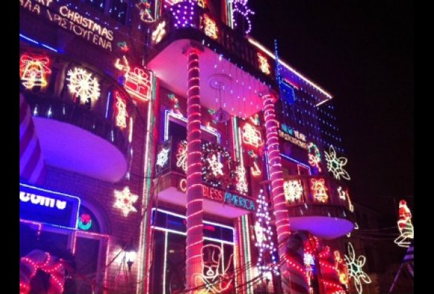 Sam the Greek's house boasts jaw-dropping decorations he made himself
