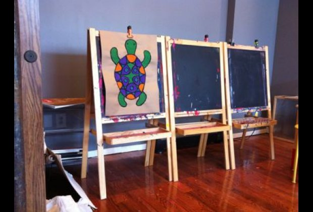 Drop-in guests have access to great art supplies