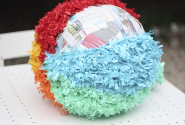 Easy Easter Crafts for Kids: Make a pinata egg and fill it with goodies.