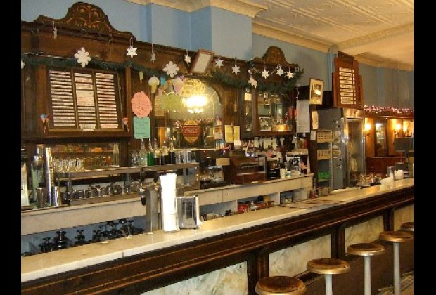 Enjoy an old-fashioned egg cream or ice-cream float at Eddie's Sweet Shop