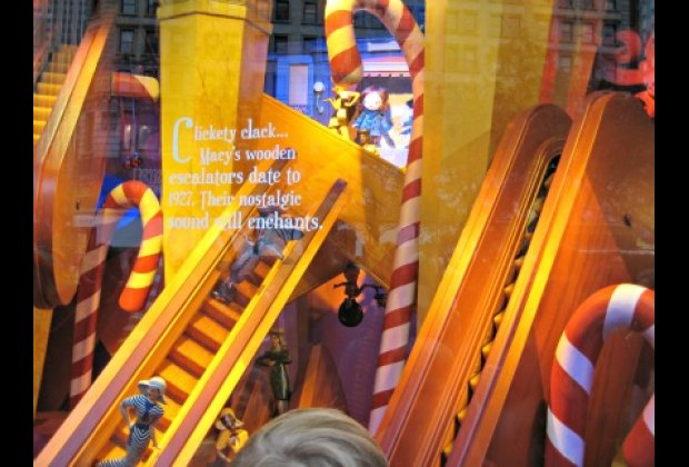 The famous Herald Square escalators at Macy's