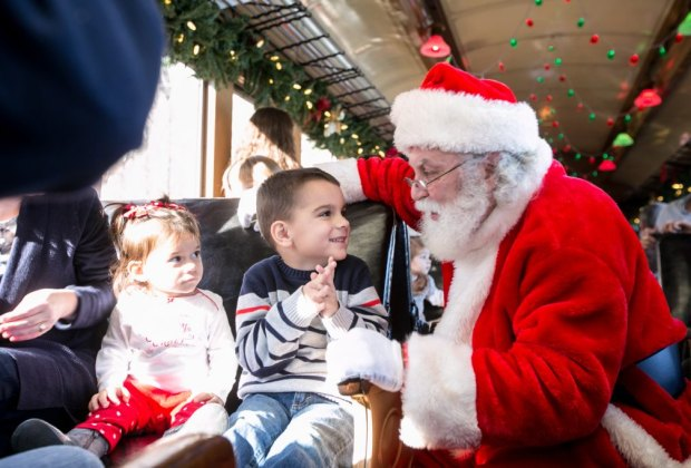 Christmas Train Ride Nj.North Pole Express And Christmas Train Rides With Santa In