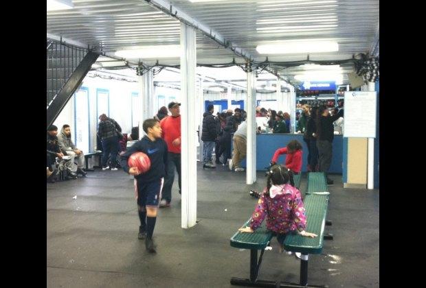 Indoors you'll find skate, helmet and locker rentals