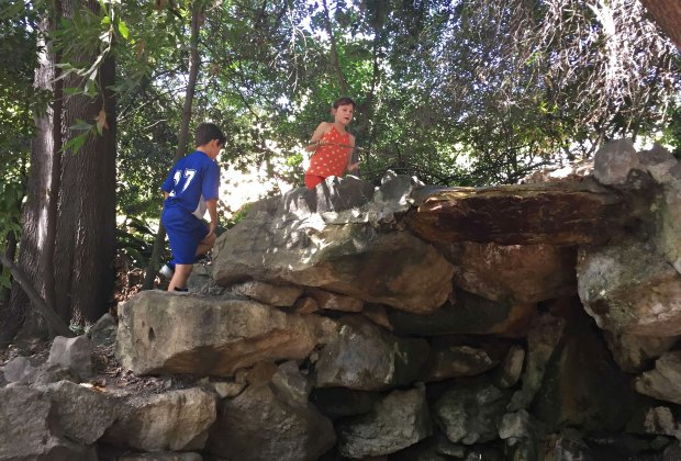 Kids love the grotto at Ferndell Nature Walk