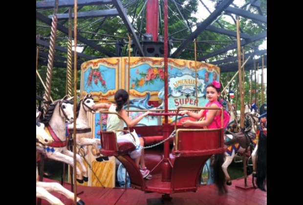 This carousel dates from 1850--it's much older than the ones we have here in NYC