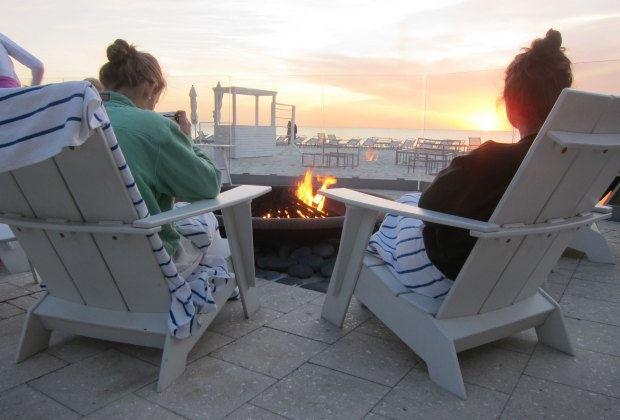 Edgewater Beach Hotel's fire  pit