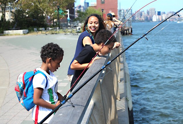 Check out the no-cost fishing and nature clinics at the Lower East Side Ecology Center.