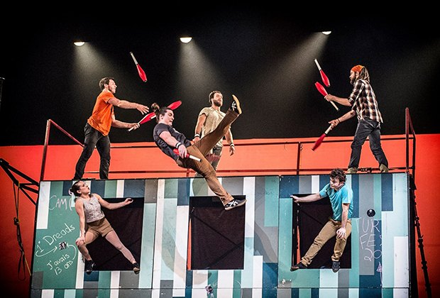 You'll flip over the music, magic, and acrobatics of Flip Fabrique at the Staller Center. Photo courtesy of Flip Fabrique