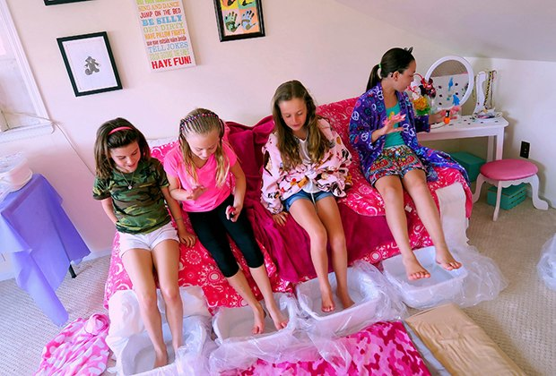 mobile kids spa party services that come to you