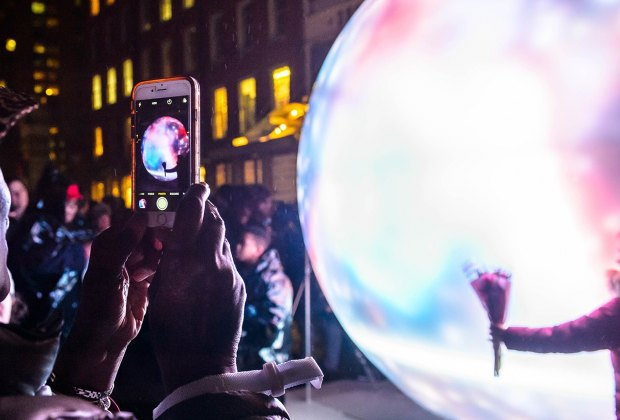 A fully immersive sensory light adventure at South Street Seaport closes soon! Photo courtesy of South Street Seaport