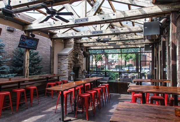 Whole animal dinners and rustic brunches are popular on Frontier's fireplace heated patio.