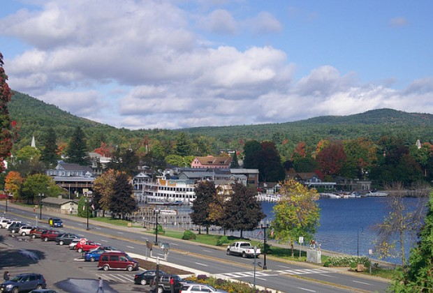 A View Of Lake George Villiage