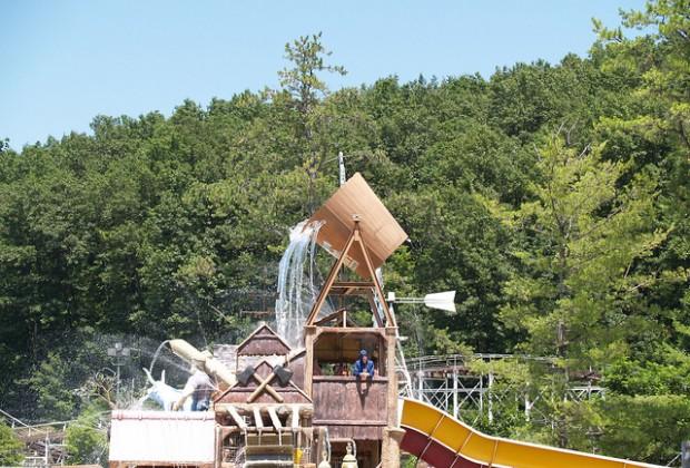 The kids play area at splashwater kingdom