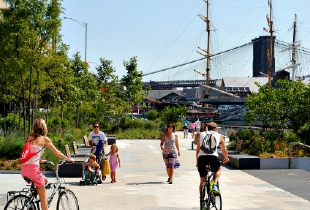 Cycle, scooter or stroll along the East River Esplanade